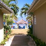 View from the main walkway out towards the beach.