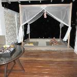 Balcony and sunken lounge
