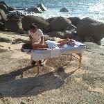 A Massage on a Private Beach...