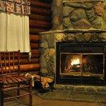 Cabin #2 Fireplace