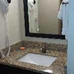 A separate sink from the shower area--bathroom was nice as well.