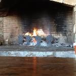 Nice fireplace