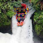Tutea Falls Kaituna River. The world's highest commercially rafted waterfall