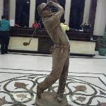 Statue in the 4 floor club house lobby