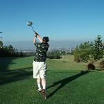 This hole is for slicers like me, try to put the ball into the volcano in the distance
