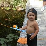 Zeshawn fishing at the lake