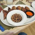 Shortrib Eggrolls, Southern Caviar, Red Pepper Sauce