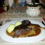 lecker , Abendessen im Romantikhotel