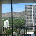 Ninth floor mountain/Diamond Head view from room