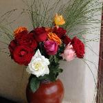 Reception area roses