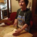 Liliana teaching how to make 'pici'