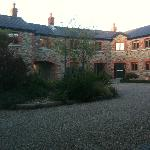 View of one section of the converted barn from the courtyard