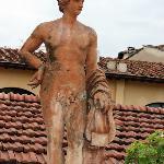 Statue on terrace