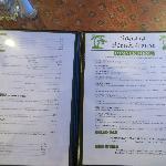 Sahara menu