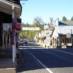 view of town of Groveland ,Route 120- cool saloon next door-karoake TH. nights