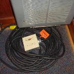 Why is there a major power cord coiled up in the corner of our cabin?
