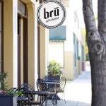 Nice outdoor seating at Bru