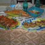 Una cena con gamberoni