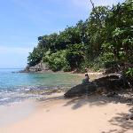 secluded private rocky beach strip