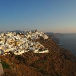 View of Fira town from our balcony