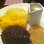 Haggis, neep & tatties with whisky sauce! very nice!
