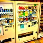 Grab a beverage - they even have a beer vending machine.