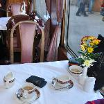 Table in Restaurant car