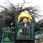 Saskia loved the play area