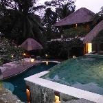 Beautiful two-tiered pool