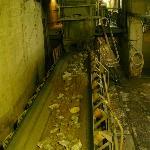 Ore on the conveyor belt