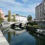 Triple Bridge over Ljubljanica River