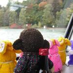 独特の湖の色、ミニフランケンの瓶は飲みやすく☆