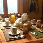breakfast at Posada al Sur
