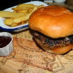 Burger and Chips £5-95