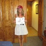 Katie winning a Riu Cap