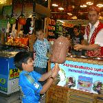 Funny icecream vendor at Taksim Street