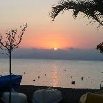 puesta de sol desde la terraza del bar