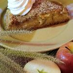 Homemade Applecake with fresh cream