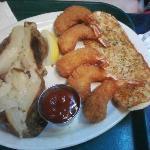 Jumbo Shrimp and Baked Potato