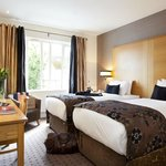 Twin bedded boutique hotel rooms