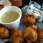Clam cakes and Rhode Island clam chowder