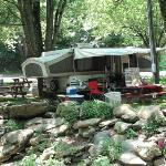 Pop-up Campsite on the creek