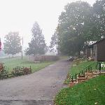 Foggy morning across the grounds