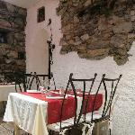 tiny restaurant in medieval mountain village
