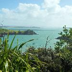 A view from Waiheke with Auckland in the distance