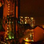 vistas de noche desde el hotel espectacular