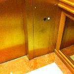 Dirty elevator.