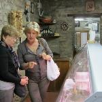 Paoula and Charlene at local market