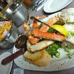 Alaskan King Crab with fries