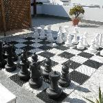 Giant Chessboard on the Roof